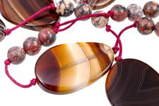 Free Fragment Agate Lady S Bead Closeup Stock Photo - 21285620