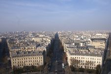 Free Aerial View Of The City In Paris Stock Photo - 21285630