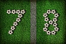 7,8 - Number Of Football Stock Photo