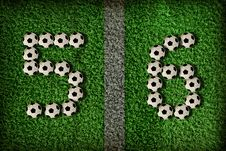 5,6 - Number Of Football Stock Photos