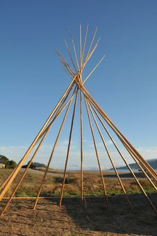 Free Frame Of A Teepee Structure As It Is Built Royalty Free Stock Photography - 21285827