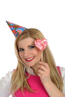 Free Pretty Party Female Celebrating Birthsday Stock Photo - 21286240