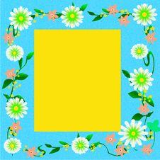 Free Showy Flower Frame Royalty Free Stock Photo - 21286315
