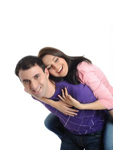 Free Lovely Young Couple Having Fun And Smiling Royalty Free Stock Photos - 21286338