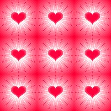 Free Seamless Background With Hearts Stock Images - 21286774