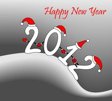 Free Illustration: Amusing New Year S Figures 2012 Royalty Free Stock Photo - 21286975