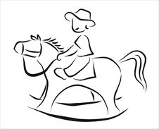 Free Rocking Horse Royalty Free Stock Photography - 21287327