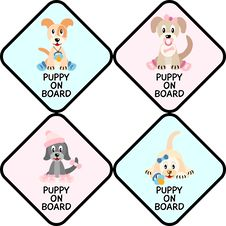 Free Puppies On Board Sign Stock Image - 21287411