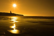 Free Ballybunion Sunny Golden Beach Sunset Stock Photos - 21288203