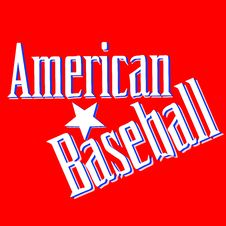 Free American Baseball Lettering Greetings Card Vector Royalty Free Stock Image - 21288706