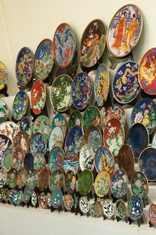 Free Cloisonné Dishes Royalty Free Stock Photos - 21289378