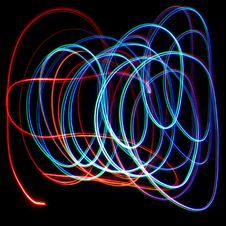 Free Chaotic Colorful Lights Royalty Free Stock Photos - 21289668