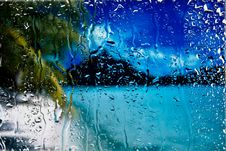 Free Drops Of Water On  Glass Royalty Free Stock Images - 21289779