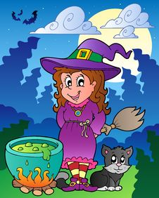 Free Halloween Character Scene 1 Royalty Free Stock Images - 21289859