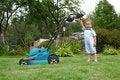 Free Little Boy Gardener Royalty Free Stock Image - 21292756