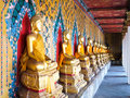 Free Row Of Seated Buddhas Statue,Wat Arun Royalty Free Stock Photography - 21295427