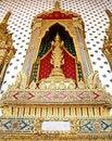 Free Thai Style God (Deva) Golden Statue Stock Image - 21295461