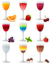 Free Different Cocktails And Juices On White Royalty Free Stock Photos - 21295918