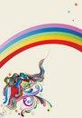 Free Liquid Rainbow Abstraction Royalty Free Stock Image - 21298346
