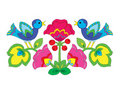 Free Color Flower Ornament With Birds. Stock Photography - 21298522