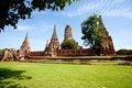 Free Historical Temple, Wat Chai Wattanaram Royalty Free Stock Photo - 21299635