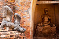 Free Buddha Image In Wat Chaiwattanaram Stock Photo - 21299910