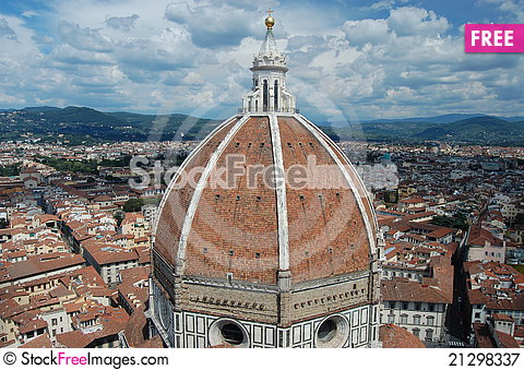 Free A View Of The Dome Of The Duomo, Florence Royalty Free Stock Photography - 21298337