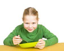 Free Girl Eats Isolated Stock Photography - 21290612