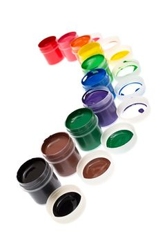 Free Multi-colored Gouache Paint Isolated Royalty Free Stock Images - 21290729