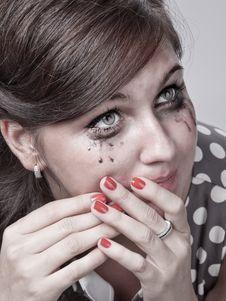 Free Sad Girl Royalty Free Stock Photos - 21291038