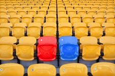Free Stadium Color Seat Royalty Free Stock Images - 21291399