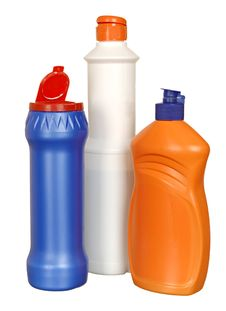 Free Plastic Bottle With Cleanser Stock Images - 21292144