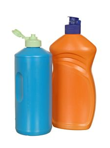 Free Plastic Bottle With Cleanser Royalty Free Stock Photos - 21292148