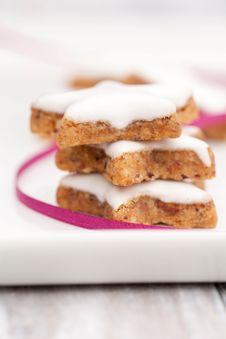 Cinnamon Biscuits Stock Photos