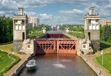 Free Floodgates On The Moscow Canal Stock Photo - 21292570