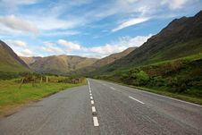 Free Road In North Part Scotland End Of Loch Shiel Stock Photos - 21292743