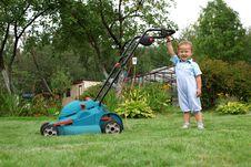 Little Boy Gardener Royalty Free Stock Image