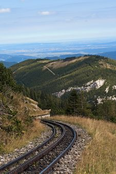 Free Mountain Railway Royalty Free Stock Image - 21292926