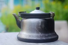 Antique Black Kettle Royalty Free Stock Image