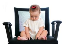 Free Baby In Office Armchair Royalty Free Stock Image - 21293086