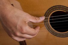 Free Really Great Shot Capturing Detail Of A Guitarist Royalty Free Stock Photos - 21293168