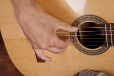 Free Really Great Shot Capturing Detail Of A Guitarist Stock Photos - 21293193