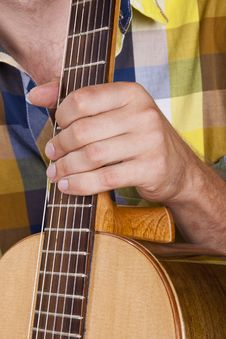 Free Really Great Shot Capturing Detail Of A Guitarist Stock Photos - 21293203