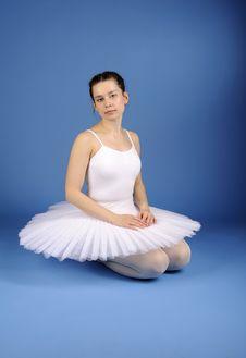 Free Ballet Dancer Sitting In White Tutu Stock Images - 21294124