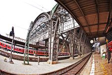 Free Frankfurt Train Station From Outside Stock Image - 21294481