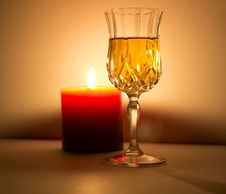Free Candle And Liquor Royalty Free Stock Image - 21294636