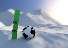 Free World Competition Snowboarding Stock Image - 21294751