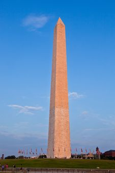 Outdoor View Of Washington Monument Royalty Free Stock Photography