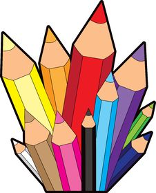 Free Rainbow Pencil City Icon Royalty Free Stock Photography - 21294997