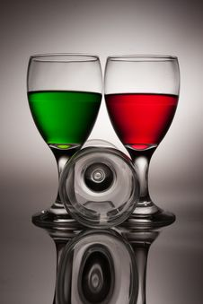 Red And Green Water Royalty Free Stock Images